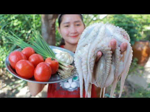 Octopus Stir Fried Cooking Recipe - Cooking With Sros