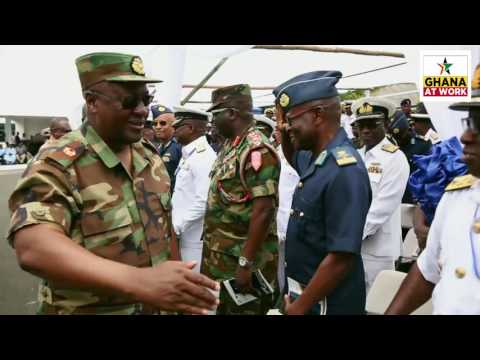 GHANA AT WORK: President J.D. Mahama Commissions the Naval Headquarters Office Complex