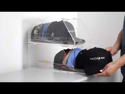 TheCapbox.com Keep your Baseball Caps Clean Organized & Dust Free Stackable Hat Storage System