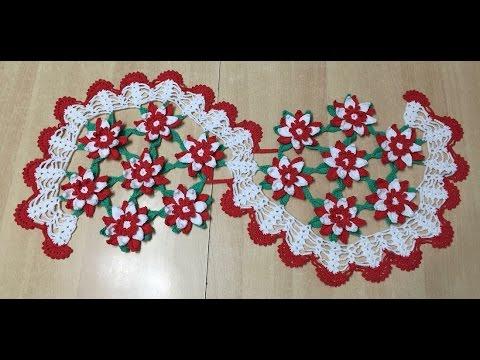 tuto chemin de table fleures au crochet 2 2 youtube. Black Bedroom Furniture Sets. Home Design Ideas