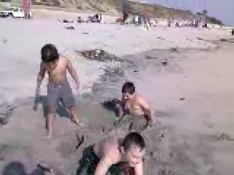 Trevor Collin Buried in Sand