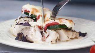 Рецепт трески Agama с овощами в духовке