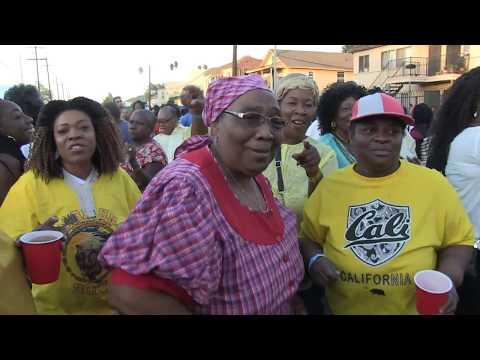 Garifuna day celebration nov 2017 Guwie Possey onstage BelizeMixed n d house
