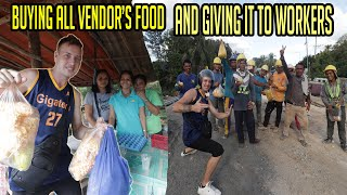 BUYING ALL VENDOR'S FOOD AND GIVING IT TO WORKERS