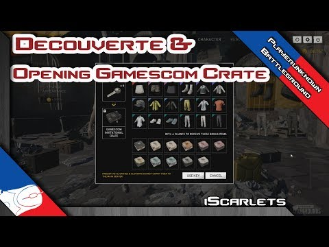 Opening Gamescom invitational crate et decouverte du contenu ! Playerunknown's Battlegrounds