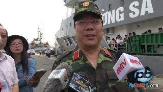 Thứ trưởng BNG VN Nguyễn Thanh Sơn tại buổi lễ khởi hành đi Trường Sa
