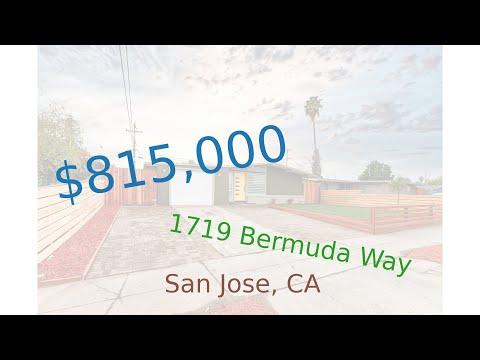 $815,000 San Jose home for sale on 2020-12-11 (1719 Bermuda Way, CA, 95122)