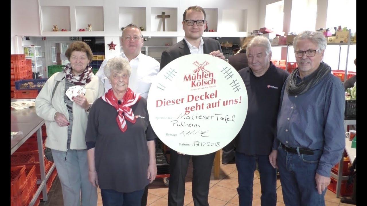 Der Romme Club der Malzmühle in Pulheim, stiftet 1,111€