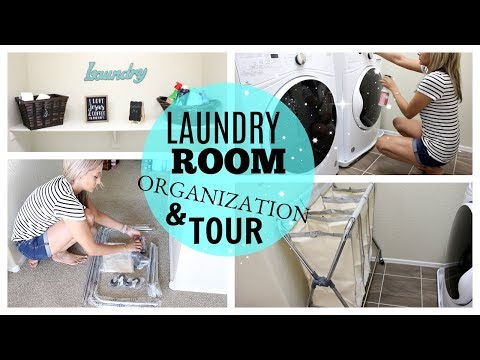 LAUNDRY ROOM ORGANIZATION AND TOUR 2017