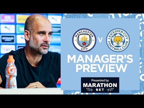 PEP GUARDIOLA PRESS CONFERENCE | MAN CITY v LEICESTER CITY