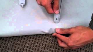newport vessels inflatable boat slow air leak seam glueing repair