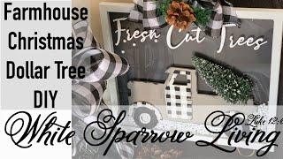 DIY DOLLAR TREE CHRISTMAS FARMHOUSE BUFFALO CHECK TRUCK SIGN
