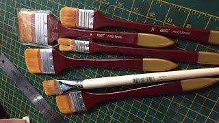 Oleg Buiko painting brushes review Part 1. Обзор кистей для живописи Олега Буйко