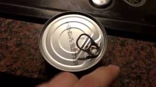 How to open a tuna tin can fish steel can DIY