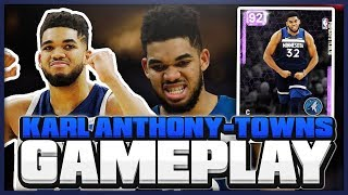 AMETHYST KARL ANTHONY TOWNS GAMEPLAY!! SAVE YOUR MT!! SUPER OVERVALUED CARD IN NBA 2K19 MYTEAM!?