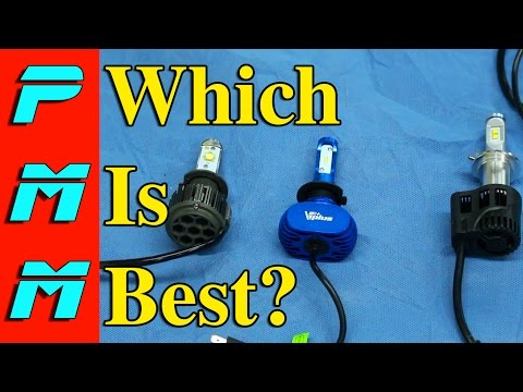 LED Head Light Bulb Comparison Install Review | Auxbeam VPlus ZY Razir | Which LED Is Best?