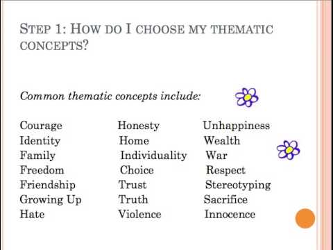 Developing a thematic statement Lesson 2