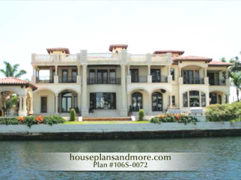Waterfront houses video 2 house plans and more youtube for House plans for waterfront property
