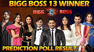 Bigg Boss 13 Winner Chance | Prediction Poll of Bigg Boss 13 Winner | Who will Win Bigg Boss 13..?