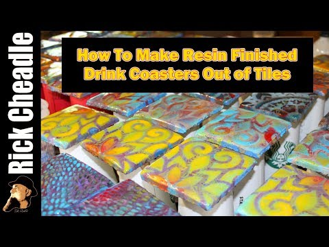 how-to-make-drink-coasters-out-of-tile:-resin-finish