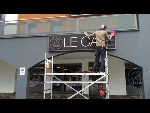 Pose caissons lumineux Dent-de-Lys - Publicity Shop