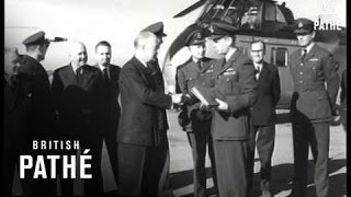Handover Ceremony Of Whirlwind Helicopters To Queen's Flight  (1959)