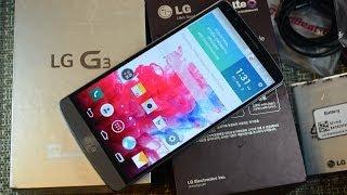 Распаковка LG G3 в топовой комплектации для Южной Кореи (F400L)  (unboxing)
