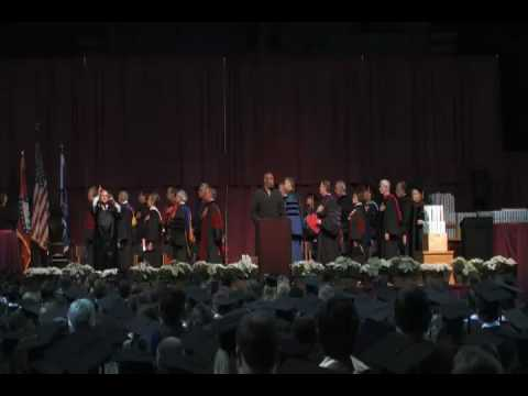 Great National Anthem performance by Marcus Murphy at UAMS Graduation