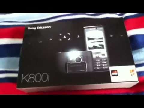sony ericsson k800i unboxing + review