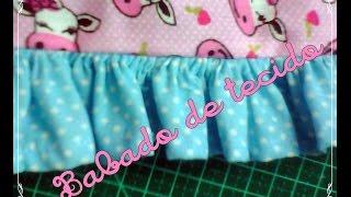 Como fazer Babado de tecido ou saia para bonecas – passo a passo