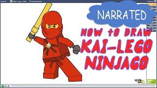 How to Draw Kai from Lego Ninjago (NARRATED)
