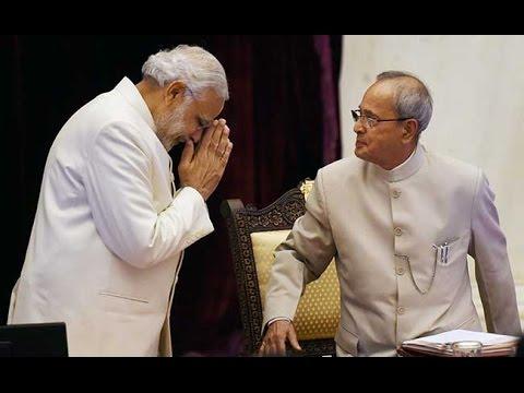 "Narendra Modi described Pranab Mukherjee as a ""university in himself"""