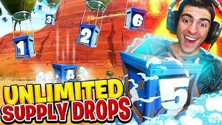 UNLIMITED SUPPLY DROPS! (Fortnite Battle Royale)