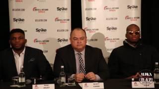 Paul Daley, Michael 'Venom' Page & Scott Coker Bellator MMA Press Conference