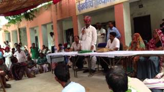 Ramlal Jat- MLA Bhilwara - addressing people of KERYAA