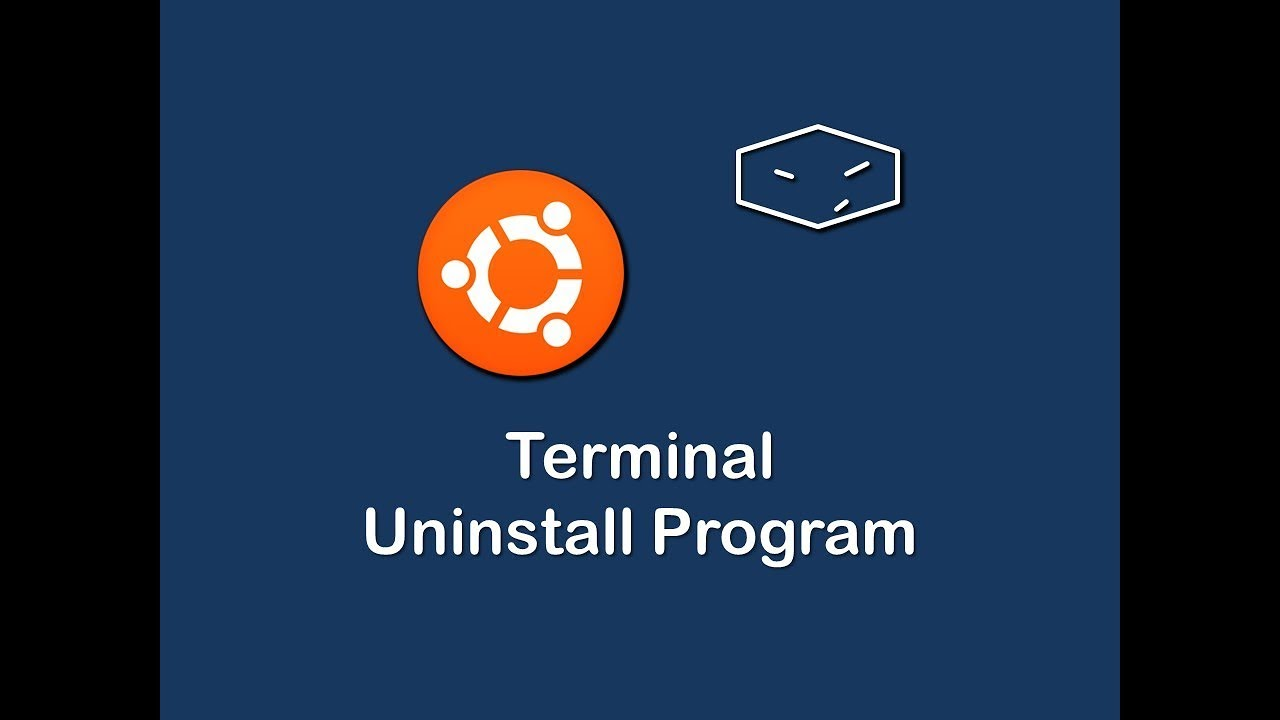 terminal uninstall program in ubuntu