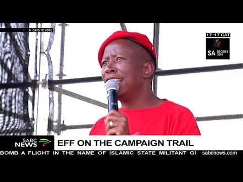 EFF leader, Julius Malema campaigns in Alexandra