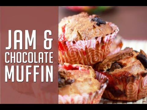 Jam Muffins By Sharmilazkitchen - Basic & Easy Kid's Lunchbox Recipe