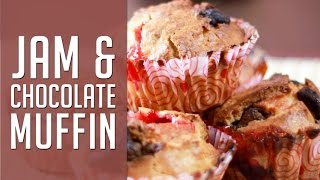 Chunky Chocolate And Jam Muffins -  Christmas Special