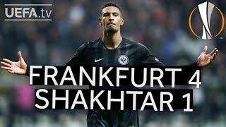 FRANKFURT 4-1 SHAKHTAR #UEL HIGHLIGHTS
