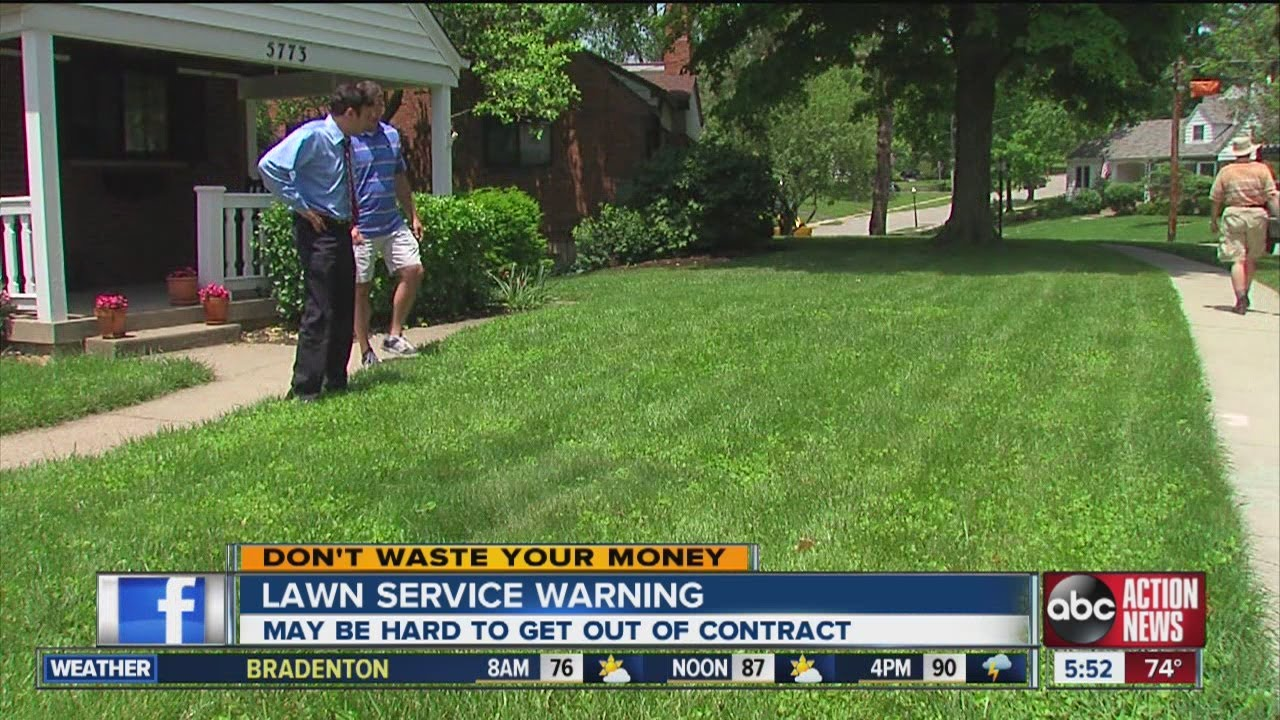 Donu0026#39;t Waste Your Money Lawn service contract warning - YouTube