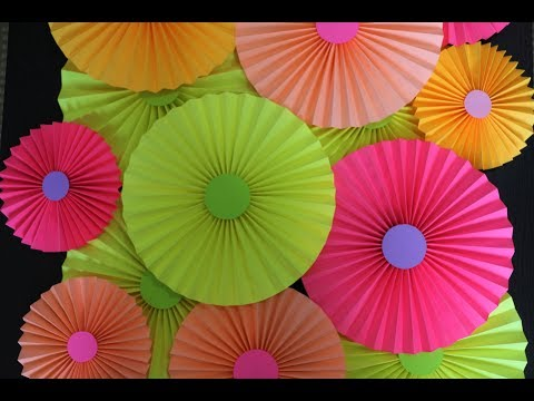 how to make paper fan / paper rosettes for party decorations