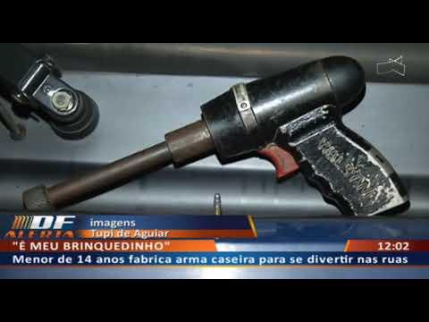 """DFA - Menor fabrica arma em casa e debocha: """"é meu brinquedinho"""""""