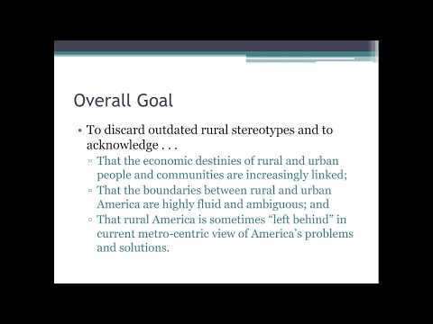 Understanding America's Rural Urban Interface