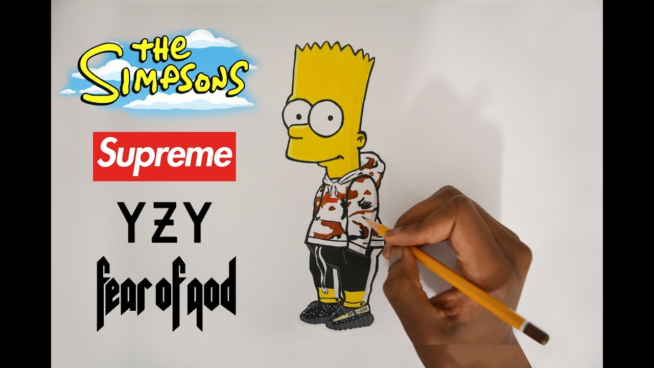 How To Draw Hypebeast Bart Simpson Pencil Drawing Youtube