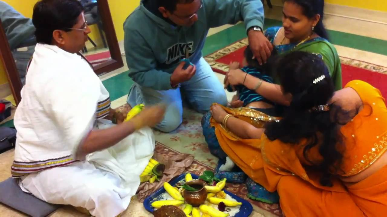 Nephew's First Hair Cut - Bridgewater Sri Venkateswara Temple