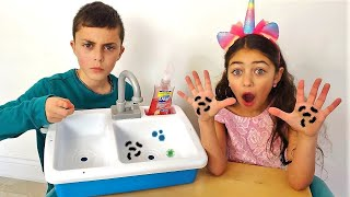 يظهر الأطفال مدى أهمية غسل اليدين  Heidi و Zidane