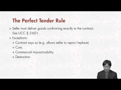 Contract Law: Perfect Tender Rule | quimbee.com