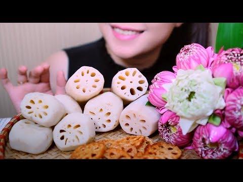 ASMR Lotus Root (EXTREME SATISFYING CRUNCH EATING SOUNDS) | LINH-ASMR