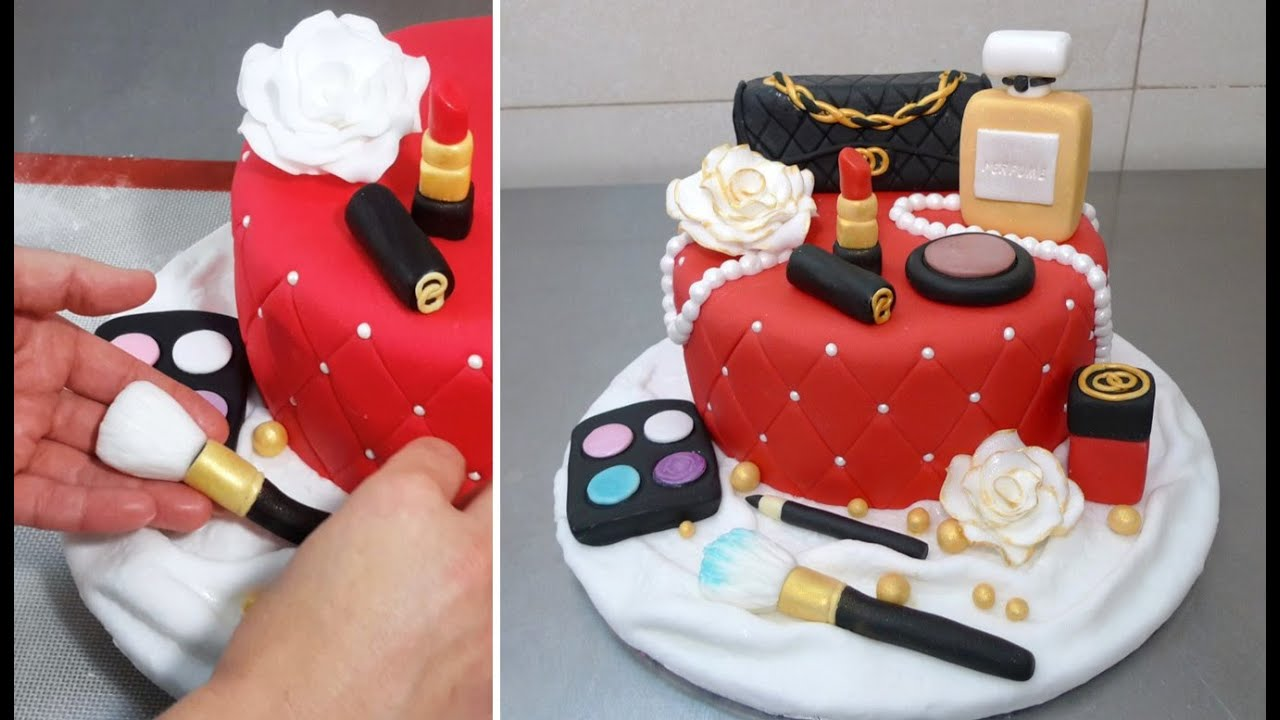 MAKEUP Fashion Cake How To Make *Torta